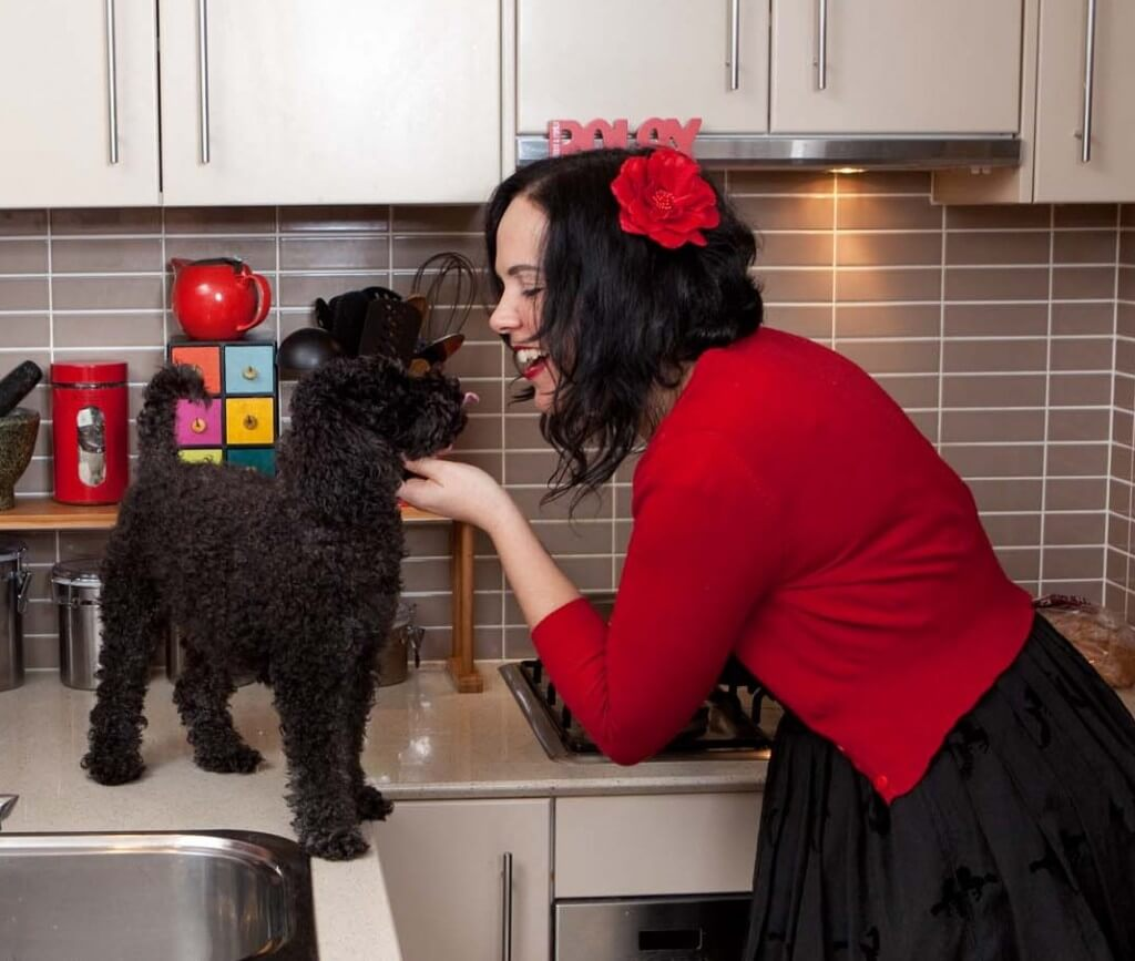 Gemma King, The Wellness Editor, and her toy poodle Cooper