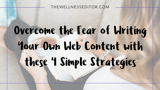 fear of writing web content